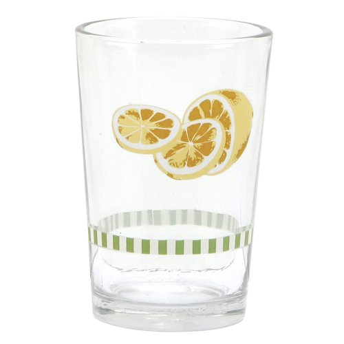 5 Ounce Juice Glass (C.R. Gibson Jessie Steele Juice Glasses in a Decorative Tin, Summer Lemons, Set of 6)