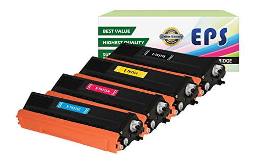 EPS Compatible Replacement for Brother TN315 (TN310) Set (B,C,M,Y) Laser Toner Cartridge