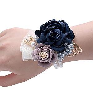 FashionSun Wedding Bride Wrist Corsage Bridesmaid Wrist Flower Corsage for Wedding Prom Party Homecoming 105