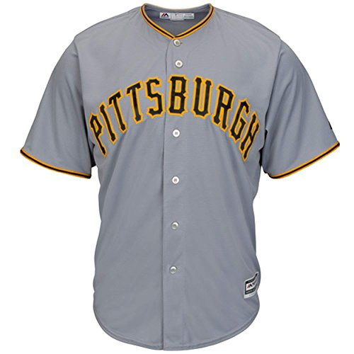 - Outerstuff Pittsburgh Pirates Blank Gray Youth Cool Base Road Replica Jersey (Medium 10/12)