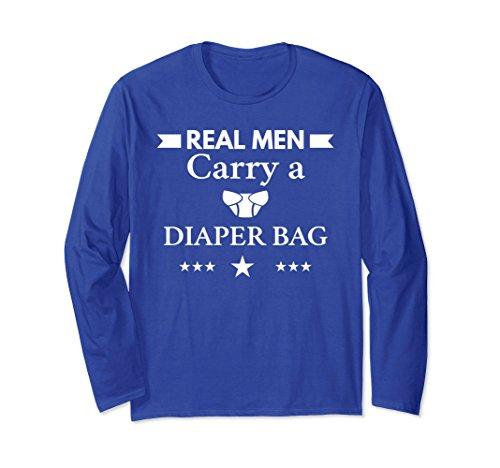 Unisex Funny New Macho Dad Long Sleeve Fun Dad Diaper Tee XL: Royal Blue by Unknown