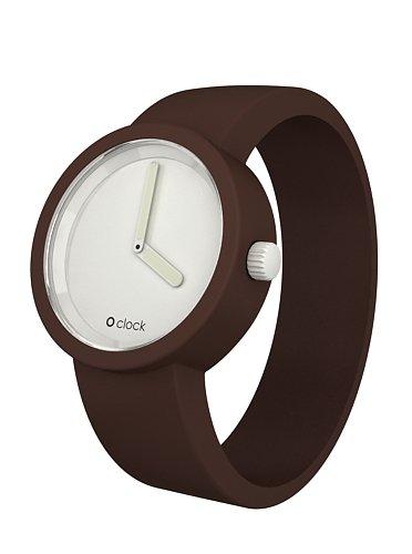 O clock CLOCKL_CI - Reloj analógico de cuarzo unisex con correa de silicona, color marrón: Amazon.es: Relojes