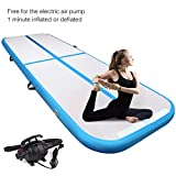 Yoleo 10′ x 3.3′ Air Track Gymnastics, Inflatable Tumbling Mat Airtrack Floor with Electric Air Pump for Home Exercise, Beach, Martial Arts