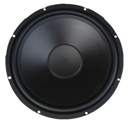 MCM AUDIO SELECT 55-2974 WOOFER POLY CONE 15 INCH MCM 200W RMS 8OHM RUBBER SURROUND