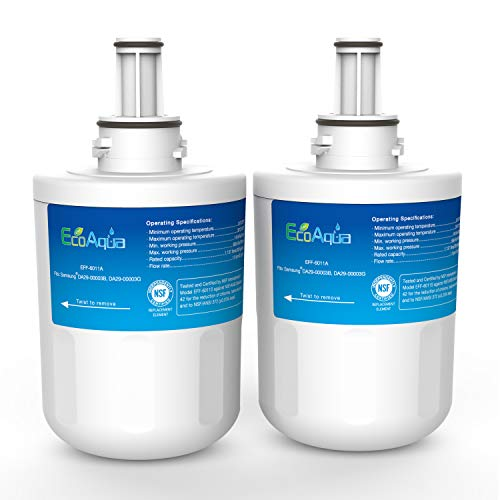EcoAqua EFF-6011A Replacement Filter, Compatible with Samsung DA29-00003G, Aqua-Pure Plus DA29-00003B, HAFCU1, DA29-00003A, 2 Pack