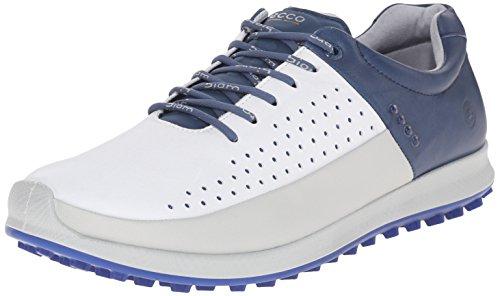 ECCO Mens Biom Hybrid Hydromax Golf Shoe Concrete/White/Denim Blue