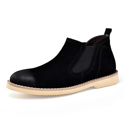 Sunny&Baby Stivali Chelsea da uomo Casual Classic Mid-top British Restoring Ancient Ways Work Shoes Durevole (Color : Nero, Dimensione : 38 EU) Nero
