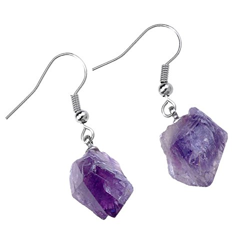 Top Plaza Amethyst Irregular Earrings