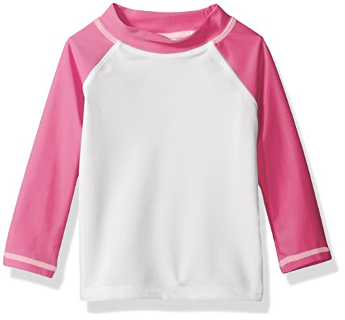 Flap Happy Baby Girls' UPF 50+ Colorblock Rash Guard/Swim Top, Kohala, 12m