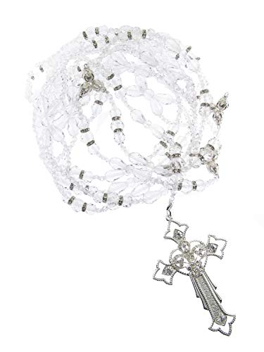 - DivaDesigns Hispanic Traditional Wedding Crystal and Cross Lasso 106 - Silver Tone/Clear