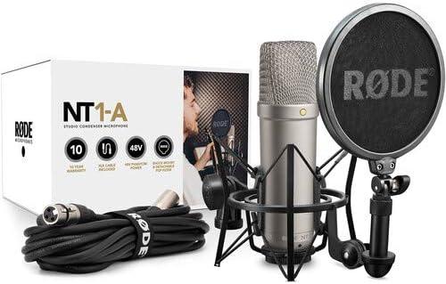 Rode NT1-A Completa solución de grabación de Voz con acústica Filtro de reflexión y trípode Soporte para micrófono Kit: Amazon.es: Electrónica