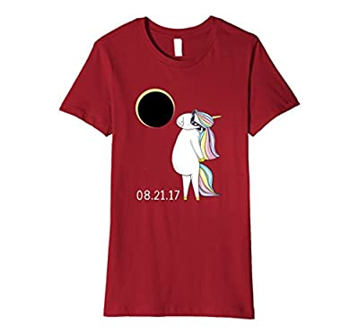 Circle Total Solar Eclipse with Funny Unicorn Ma T-Shirt