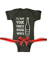 Fayfaire Unique Baby Gifts Boutique Cute   I'll Have Your Finest House White NB-12M