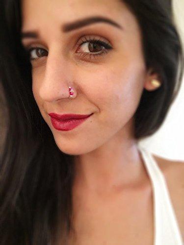 Body Jewelry Piercing Jewelry Swarovski Crystal Indian Nose Ring
