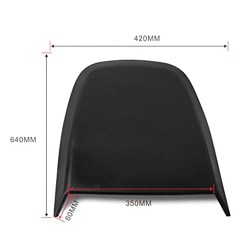 Universal Fitment Fit ABS Air Flow Hood Vent Scoop Bonnet Cover V4 Style length 27'' width 16.5'' height 2'' by IKON MOTORSPORTS by IKON MOTORSPORTS (Image #3)