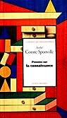 La pensees sur la connaissance par Comte-Sponville