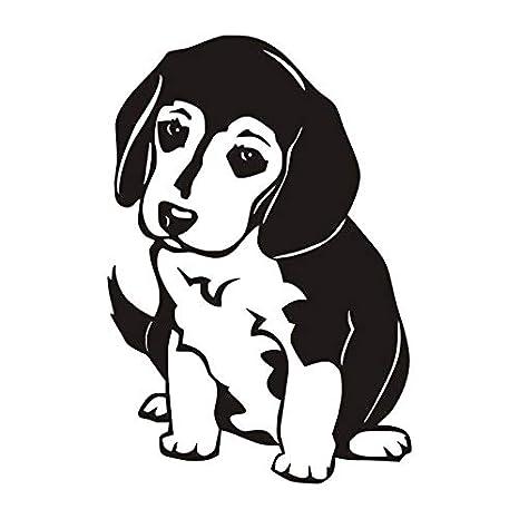 Lindo Cachorro Beagle Tatuajes de Pared Silueta Patrón Art Mural ...