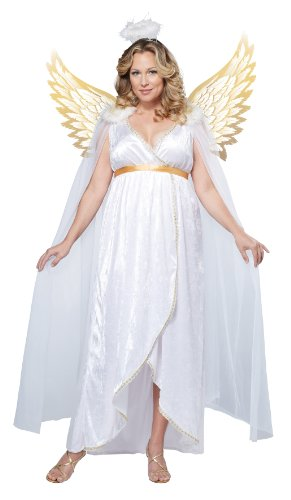 California Costumes Women's Guardian Angel Plus, White, 2X