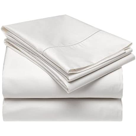 Gotcha Covered TERRA Collection KING Size 100 Percent Certified Tencel Bed Sheet Set With Smarty Bandzz Low Profile Up To 11 In Pearl