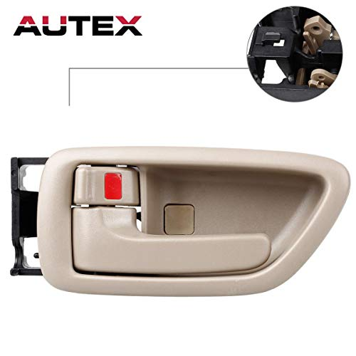 AUTEX Door Handle Interior Front/Rear Left Driver Side Beige Compatible with Toyota Avalon 2000 2001 2002 2003 2004 Door Handle 81282 69206-AC010-E1 69206AC010E1 TO1352160
