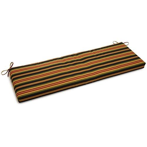 (Blazing Needles Patterned Outdoor Spun Polyester Loveseat Cushion, 51