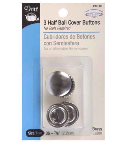 Dritz Half Ball Buttons - Dritz Half Ball Buttons, 7/8'' Size 36 3/Pkg.