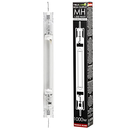 Yield Lab Double Ended 1000W Grow Light Bulb – Metal Halide (MH) – Hydroponic, Aeroponic, Horticulture Growing Equipment by Yield Lab