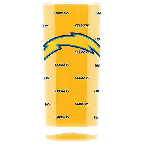 NFL Los Angeles Chargers 16oz Insulated Acrylic Square Tumbler