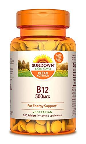 Sundown Naturals® Vitamin B-12 500 mcg, 200 Tablets