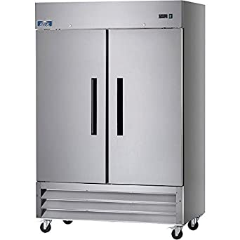 Arctic Air AR49 54u0026quot; Two Section Solid Door Reach In Refrigerator   49  Cu