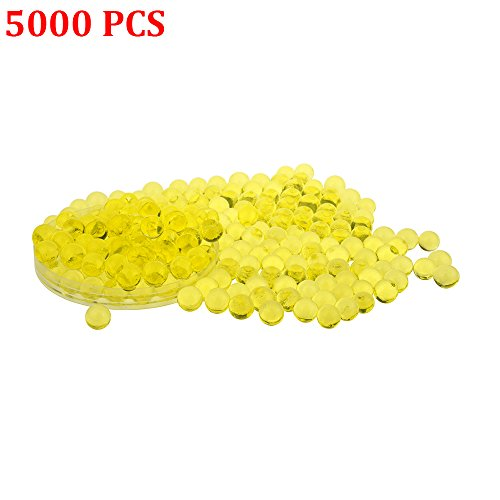 Candora 5000pcs Water Beads Crystals Mud Crystal Water Gel Beads Soil Beads Crystal Soil Plant Flower Jelly Crystal Soil Mud Water Pearls Gel Beads Balls for Kids Vases (3# Yellow)]()