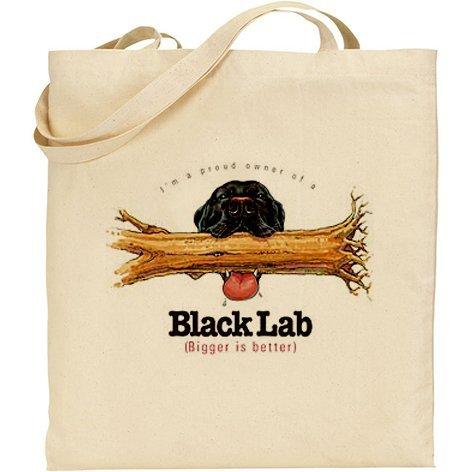 AB–Divertente Cane Labrador nero cotone Borsa