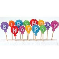 Birthday Cake Balloon Candles ( 13 Pcs)