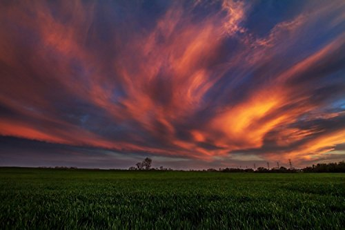 Oklahoma Sunset Photography Art Print - Picture of Amazing S