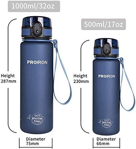 BPA-libre 1000m Ion8 a prueba de fitness outdoor botella de agua//botella