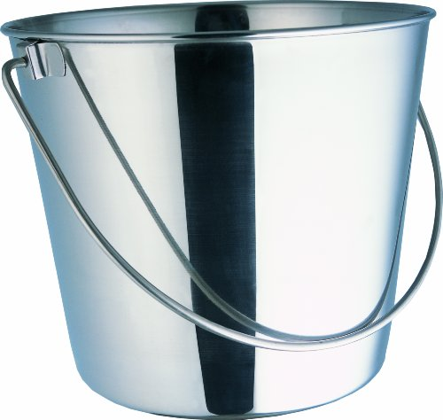 Indipets Heavy Duty Stainless Steel Pail, 6-Quart (Pail Water)
