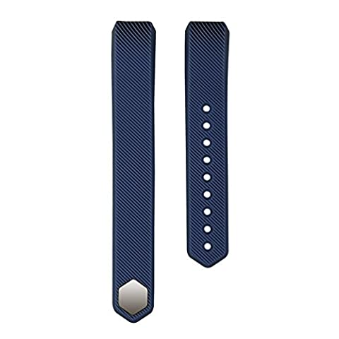 For Fitbit Alta Bands, Wearlizer Silicone Smart Watch Replacement Strap Bracelet for Fitbit Alta - Sapphire (Hart Bit Watches)