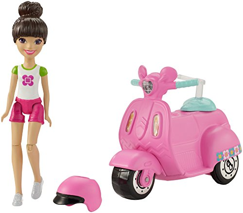 Barbie On The Go Vehicle & Doll, White & Pnk Outift -