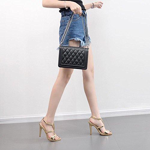 scarpe da ZHZNVX tirante 39 tacchi scarpe pesce T Le con sandali oro di Strap con asolato bocca sexy i bella alti donna nuove PaBta