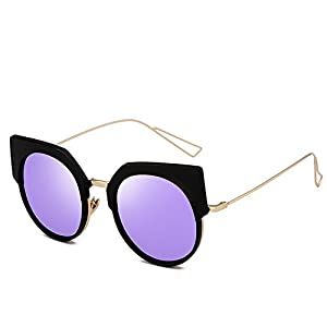 Polarized Sunglasses beat round frame sunglasses women,C4 Purple