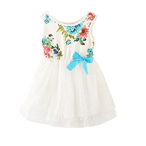 806d71005e5 2Bunnies Little Girls Sleeveless Floral Princess Dress Tulle Tutu Sundress  (5
