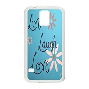 Custom New Cover Case for SamSung Galaxy S5 I9600, Live, love, laugh Phone Case - HL-507064