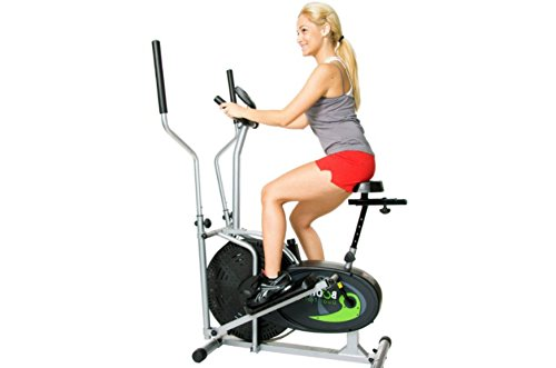 Elliptical Exercise Equipment, Fitness Equipment Elliptical, Dual Trainer with Seat, Cross Trainer And Exercise Bike Upright by Elliptical Dual Rider