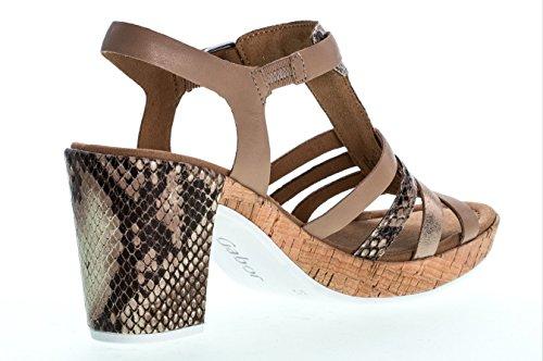 GABOR comfort - Damen Sandaletten - Beige Schuhe in Übergrößen