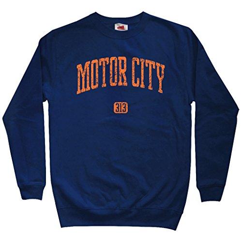 Smash Transit Men's Motor City 313 Detroit Sweatshirt - Navy, X-Large