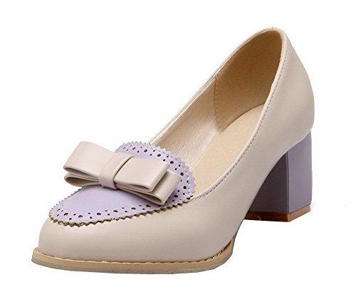 Colore Donna Medio Tacco Flats Viola VogueZone009 Ballet Tirare Assortito Luccichio nOq6nW1
