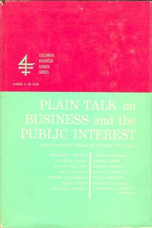 Plain Talk on Business and the Public Interest