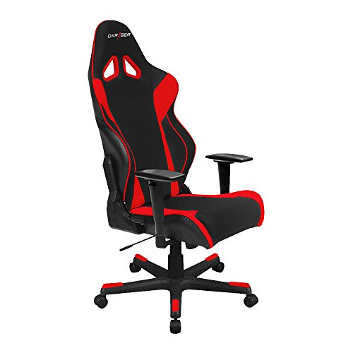 DX Racer Racing Series DOH/RW106/NR Racing Bucket Seat Office Chair Gaming Chair Automotive Racing Seat Computer Chair eSports Chair Executive Chair Furniture With Pillows (Black/Red)