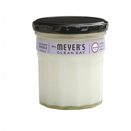 Mrs. Meyer's Clean Day Soy Candle, Lavender, 7.2 Ounce Glass Jar (Soy Meyers Candle Mrs Lavender)