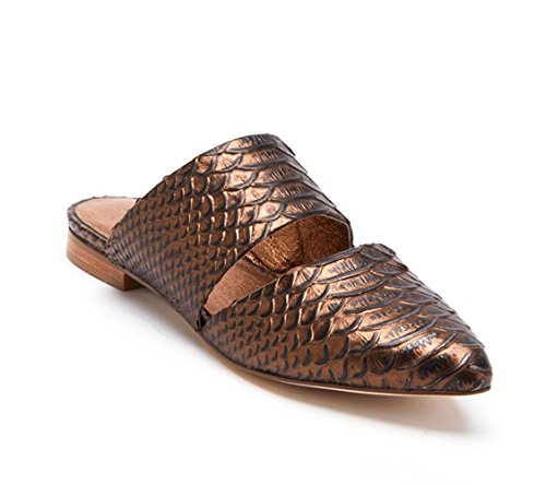 Matisse Women's Berlin Bronze Leather Flat Mules Bronze
